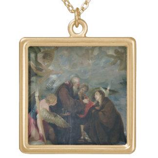 La comunión del St. subió de Viterbo (la Virgen) Colgante Cuadrado