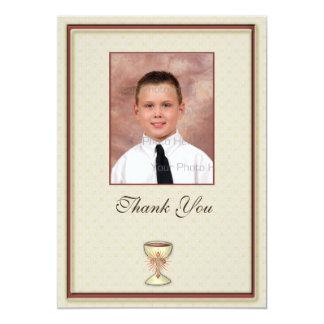 La comunión le agradece tarjeta de la foto invitación 12,7 x 17,8 cm