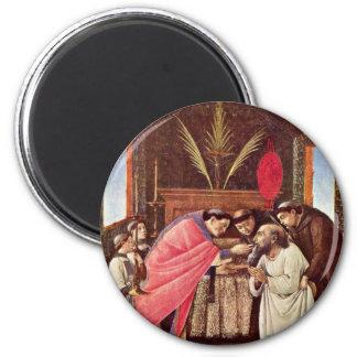 La comunión pasada de St Jerome por Botticelli Imán Para Frigorifico
