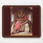 La comunión pasada de St Jerome por Botticelli Alfombrilla De Ratones