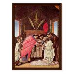 La comunión pasada de St Jerome por Botticelli Tarjeta Postal