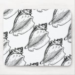 La concha Shell bosqueja Alfombrilla De Raton