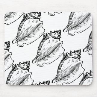 La concha Shell bosqueja Tapetes De Raton