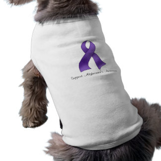 La conciencia de Alzheimer de la ayuda Playera Sin Mangas Para Perro
