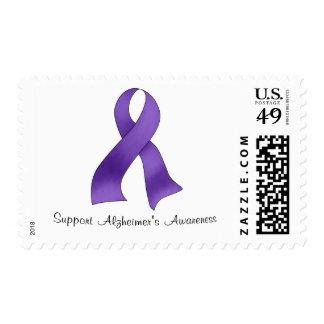 La conciencia de Alzheimer de la ayuda Timbres Postales