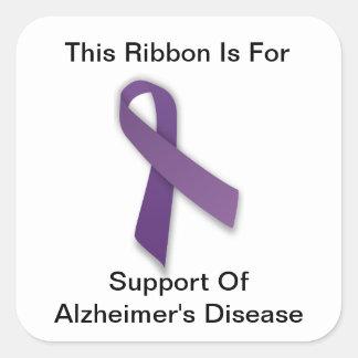 La conciencia de Alzheimer - pegatinas Pegatina Cuadrada