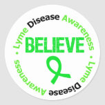La conciencia de la enfermedad de Lyme cree v1 Etiqueta Redonda