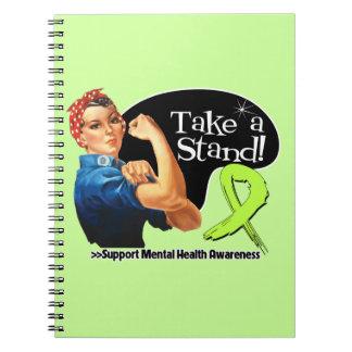 La conciencia de la salud mental toma un soporte cuaderno