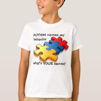 La conciencia del autismo embroma excusa del remera