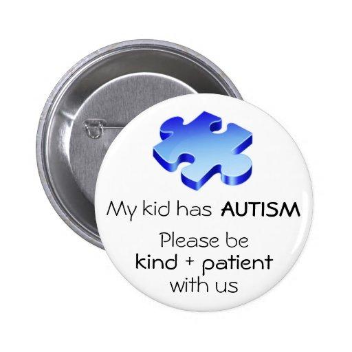 """La conciencia del autismo """"mi niño tiene Pin de au"""