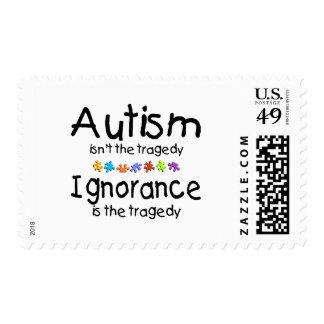 La conciencia del autismo no es la tragedia estampillas