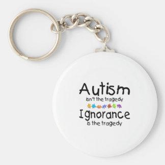 La conciencia del autismo no es la tragedia llavero redondo tipo pin