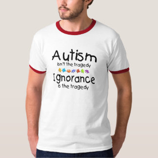 La conciencia del autismo no es la tragedia playeras