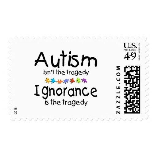 La conciencia del autismo no es la tragedia sellos