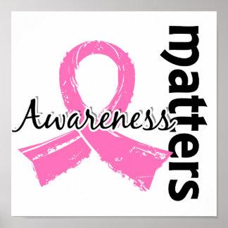 La conciencia importa cáncer de pecho 7 posters
