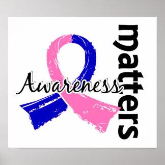La conciencia importa cáncer de pecho de 7 varones póster