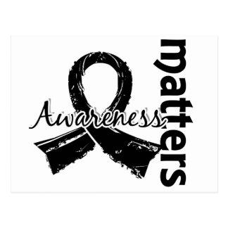 La conciencia importa cáncer de piel 7 tarjetas postales