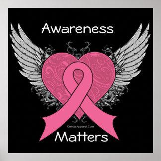 La conciencia importa corazón del Grunge - cáncer  Posters