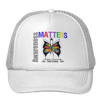 La conciencia importa el autismo v1 gorras de camionero