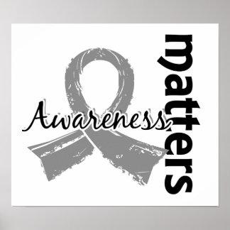 La conciencia importa el tumor cerebral 7 póster