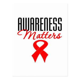 La conciencia importa enfermedad cardíaca postales