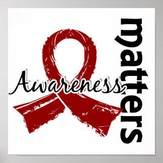 La conciencia importa la anemia de células falcifo impresiones