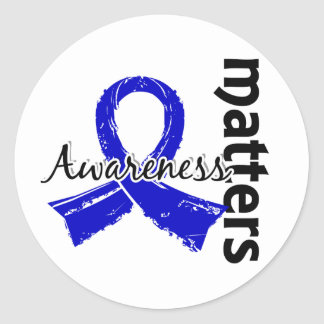 La conciencia importa la artritis 7 etiqueta redonda