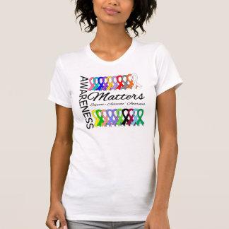 La conciencia importa las cintas del cáncer tee shirts