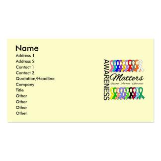La conciencia importa las cintas del cáncer tarjetas de visita