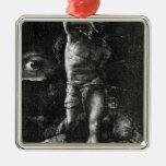 La conciencia o, el ojo que mira a Caín Adorno Navideño Cuadrado De Metal