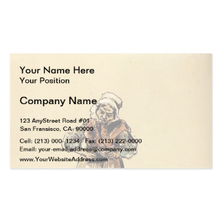 La Concierge by Honore Daumier Business Card Template