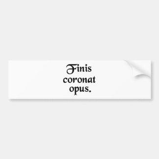 La conclusión corona el trabajo pegatina de parachoque