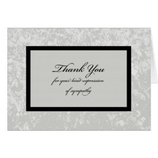 La condolencia clásica le agradece cardar tarjeta de felicitación