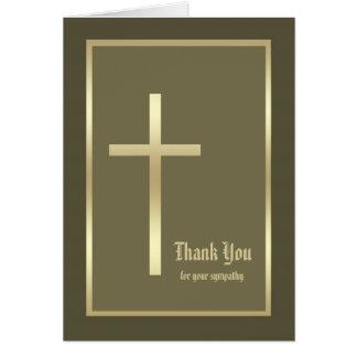 La condolencia cristiana de la pérdida le agradece tarjetas
