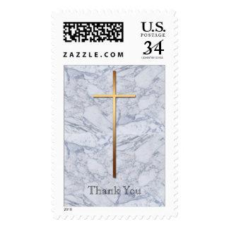 La condolencia cruzada de oro del mármol 2 le sellos postales