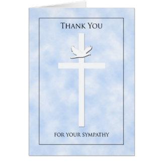 La condolencia cruzada y de la paloma le agradece  felicitación