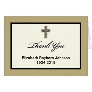 La condolencia de encargo en blanco le agradece ca tarjeta de felicitación