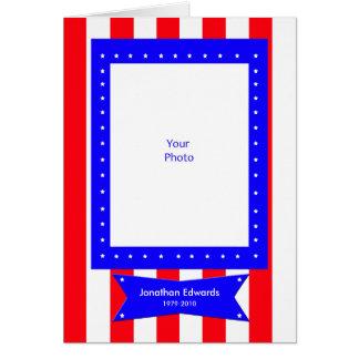 La condolencia de la foto del veterano le agradece tarjeta de felicitación