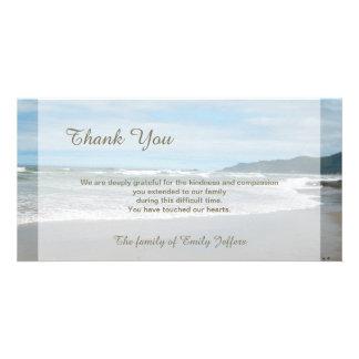 La condolencia de la playa le agradece tarjeta tarjeta fotográfica personalizada