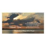 La condolencia de la puesta del sol le agradece ta tarjeta con foto personalizada