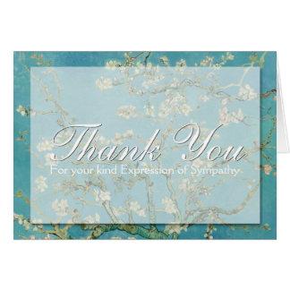 La condolencia de Van Gogh del flor le agradece la Tarjeta Pequeña
