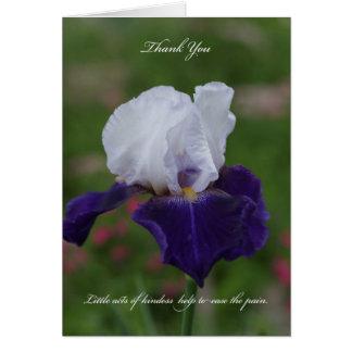 La condolencia del iris le agradece cardar tarjetón