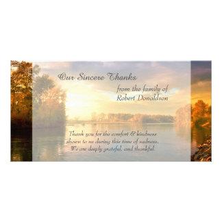 La condolencia del lago sunrise le agradece tarjetas personales