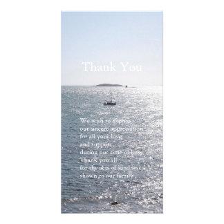 La condolencia del mar y del barco 4 le agradece plantilla para tarjeta de foto