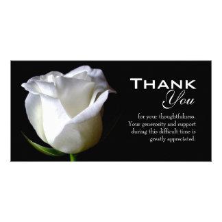 La condolencia el entierro le agradece tarjeta de tarjeta fotográfica personalizada