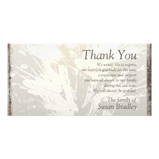La condolencia elegante del estampado de flores le tarjetas con fotos personalizadas