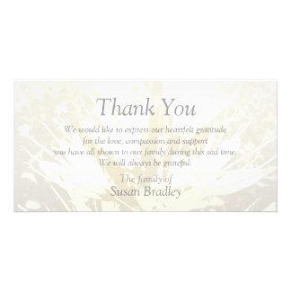 La condolencia elegante del estampado de flores le tarjetas personales con fotos