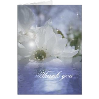 La condolencia fúnebre le agradece cardar tarjeta pequeña