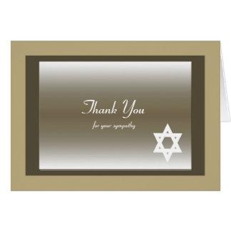 La condolencia judía clásica le agradece tarjeta
