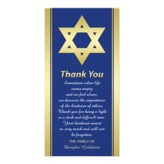 La condolencia judía le agradece estrella de la tarjetas fotográficas
